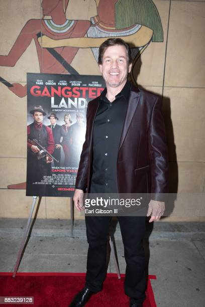 Michael Pare attends the Premiere Of Cinedigm's 'Gangster Land' at the Egyptian Theatre on November 29 2017 in Hollywood California