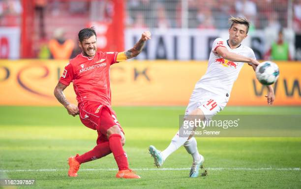 Michael Parensen of 1 FC Union Berlin and Kevin Kampl of RB Leipzig during the bundesliga match between FC Union Berlin against RB Leipzig at Stadion...