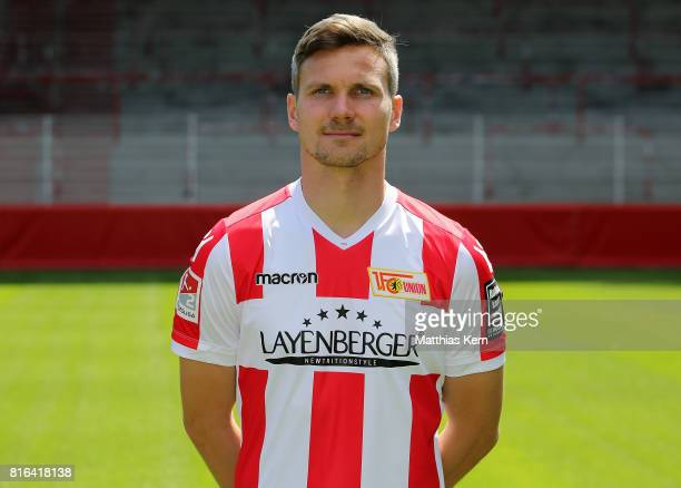 Michael Parensen of 1 FC Union Berlin poses during the team presentation at Stadion an der Alten Foersterei on July 17 2017 in Berlin Germany