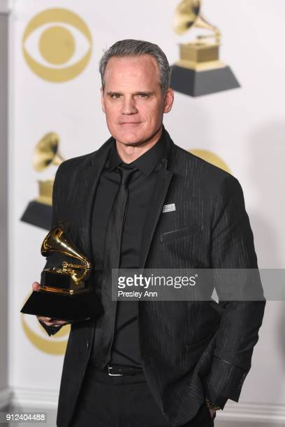 Michael Park attends 60th Annual GRAMMY Awards - Press Room at Madison Square Garden on January 28, 2018 in New York City.