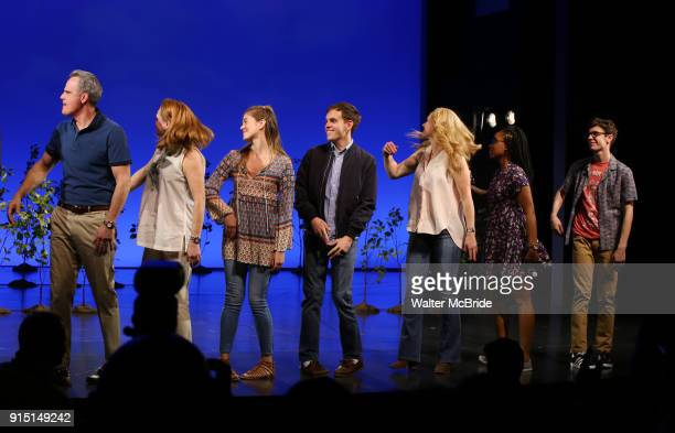 Michael Park Jennifer Laura Thompson Laura Dreyfuss Rachel Bay Jones Kristolyn Lloyd and Ben Levi Ross with Taylor Trench takes his bows as the...