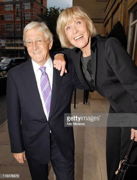 Michael Parkinson and guest during George Michael's 44th Birthday Party at Berkley Hotel in London Great Britain