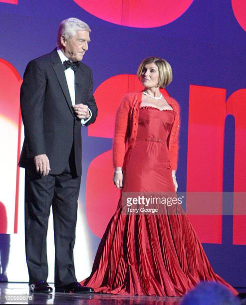 Michael Parkinson and Sharon Osbourne during The 77th Royal Variety Performance Show at Wales Millennium Centre in Cardiff Great Britain