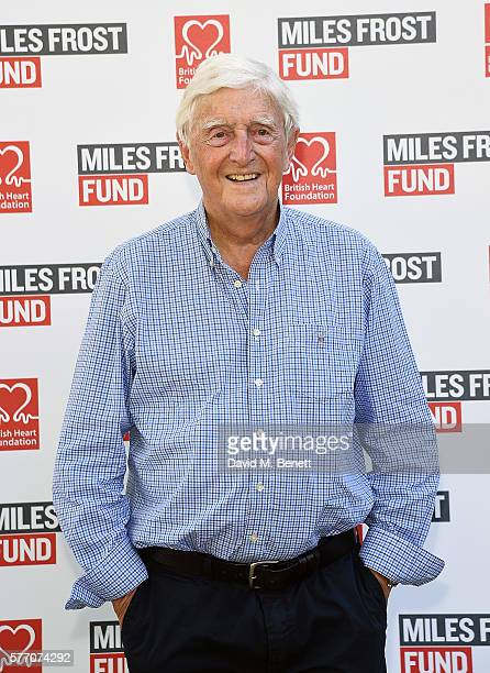 Michael Parkinson attends The Frost family final Summer Party to raise money for the Miles Frost Fund in partnership with the British Heart...