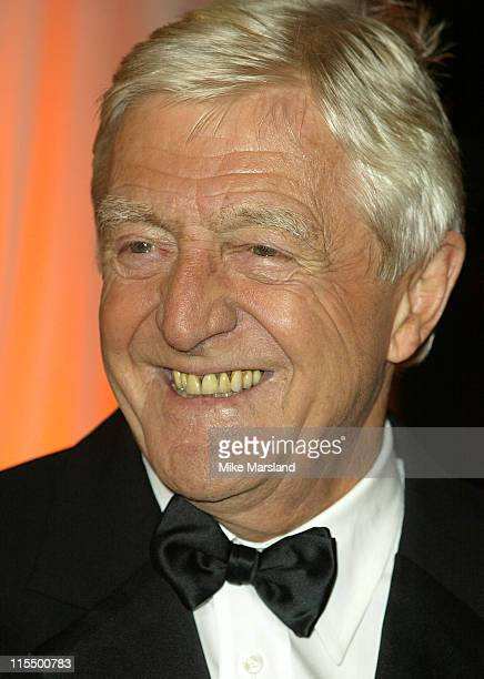 Michael Parkinson during A BAFTA Tribute To Bob Monkhouse at BBC White City in London Great Britain