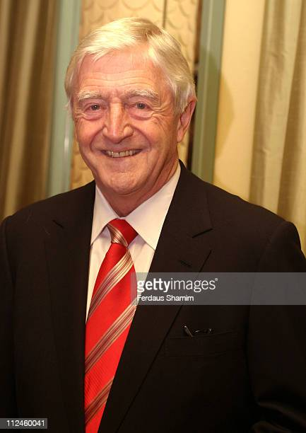Michael Parkinson during Help The Aged Living Legend Award at Dorchester Hotel London in London Great Britain
