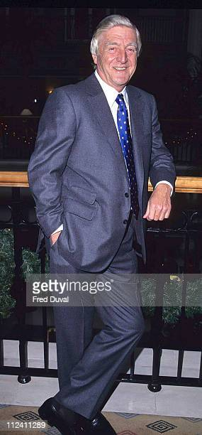 Michael Parkinson during Michael Parkinson Attends BBC TV Winter Launch at London in London Great Britain