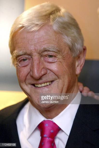 Michael Parkinson during Music Industry Trust Awards 2005 at Grosvenor House Hotel in London Great Britain