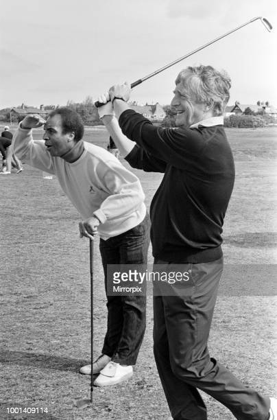 Michael Parkinson on the fairway at The Royal Liverpool Golf Club Wirral for the celebrity tournament in aid of Alder Hey Children's Hospital 13th...