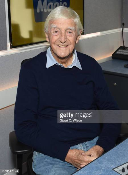 Michael Parkinson visits the Magic FM Studio on November 13 2017 in London England