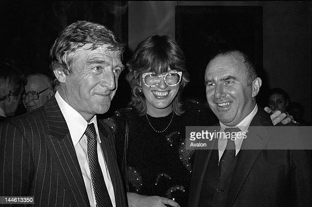 Michael Parkinson with Janet Street Porter and Clive James October 1982