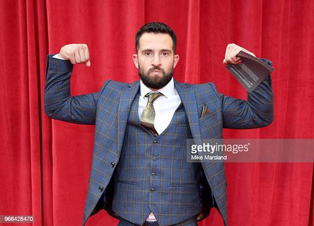 Michael Parr attends the British Soap Awards 2018 at Hackney Empire on June 2 2018 in London England