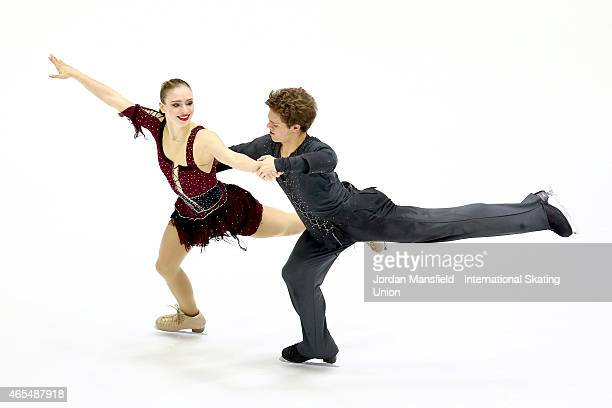 Michael Parsons and Rachel Parsons of the USA perform during the Ice Dance Free Dance on Day 4 of the ISU World Junior Figure Skating Championships...