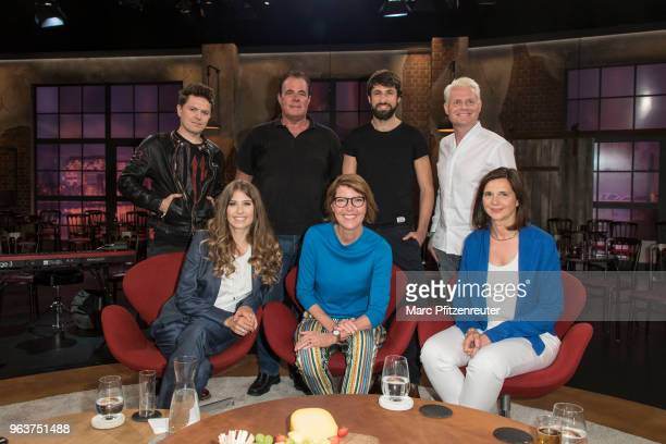 Michael Patrick Kelly Hein Simons Thomas Broich Guido Cantz Cathy Hummels Bettina Boettinger and Katrin GoeringEckardt attend the Koelner Treff TV...