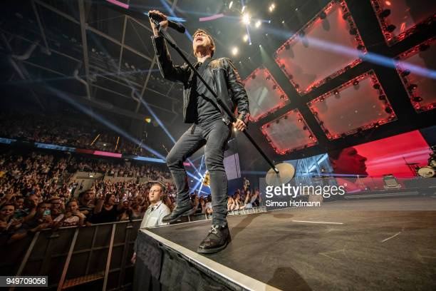 Michael Patrick Kelly performs during the Radio Regenbogen 30th Anniversary Celebration at SAP Arena Mannheim on April 21 2018 in Mannheim Germany