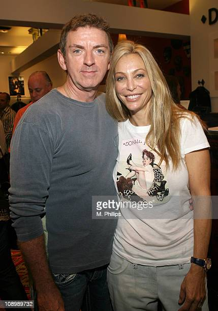 Michael Patrick King and Lisa Pliner during Donald J Pliner Instore To Benefit Cure Autism Now in Los Angeles California United States
