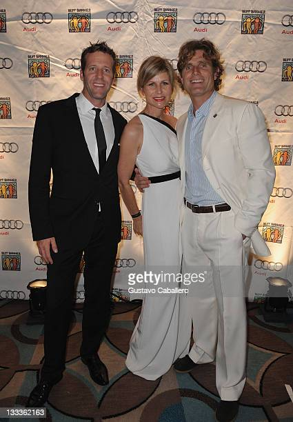 Michael Patrick of Audi of America Anja Kaehny of Audi and Anthony Shriver Founder Best Buddies International arrive at The Fifteenth Annual Best...