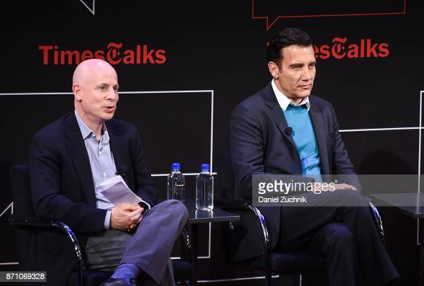 Michael Paulson and Clive Owen attend the Times Talk to discuss 'M Butterfly' at TheTimesCenter on November 6 2017 in New York City