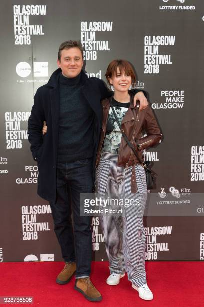 Michael Pearce and Jessie Buckley attend the UK Premiere of 'Beast' during the 14th Glasgow Film Festival at Glasgow Film Theatre on February 24 2018...