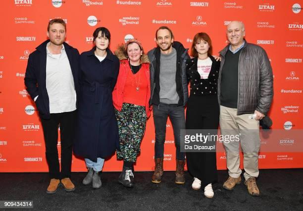 Michael Pearce Lauren Dark Ivana MacKinnon Kristian Brodie Jessie Buckley and Howard Cohen attend the 'Beast' Premiere during the 2018 Sundance Film...