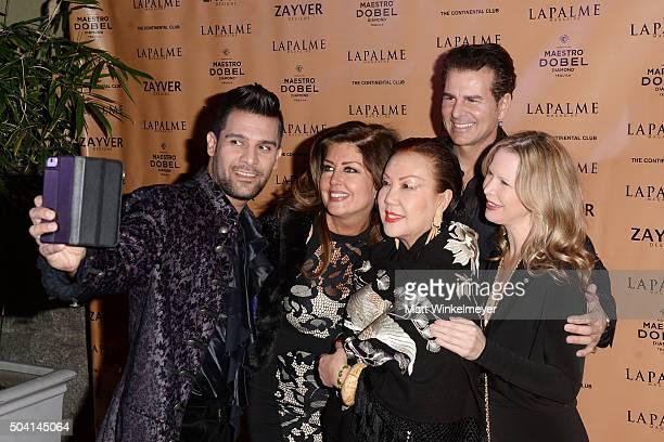 Michael Peer producer Elizabeth Webster designer Sue Wong actor/producer Vincent De Paul and Michelle Long arrive at the LAPALME Magazine Winter...