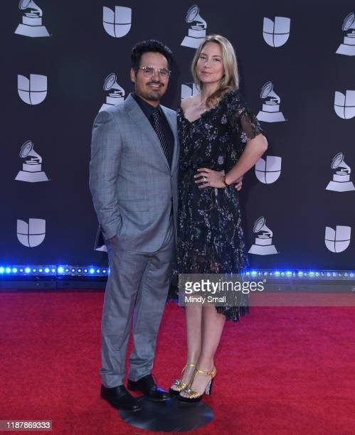 Michael Pena and Brie Shaffer attend the 20th Annual Latin Grammy Awards at the MGM Grand Garden Arena on November 14 2019 in Las Vegas Nevada