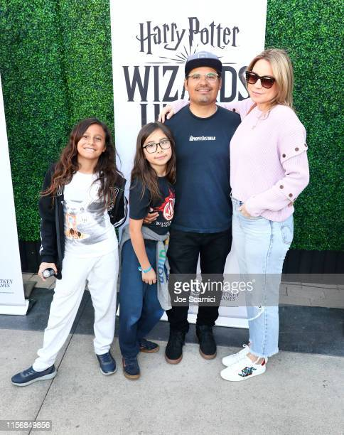 Michael Pena and Brie Shaffer attend the Harry Potter Wizards Unite Celebration Event hosted by WB Games and Niantic Inc at Universal Studios...