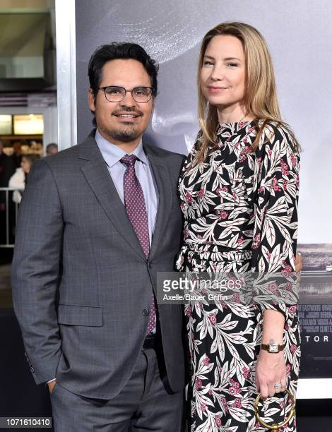 Michael Pena and Brie Shaffer attend the Warner Bros Pictures world premiere of 'The Mule' at Regency Village Theatre on December 10 2018 in Westwood...