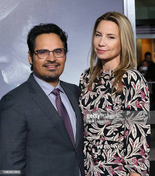 Michael Pena and Brie Shaffer attend Warner Bros Pictures World Premiere of The Mule at Regency Village Theatre on December 10 2018 in Westwood...