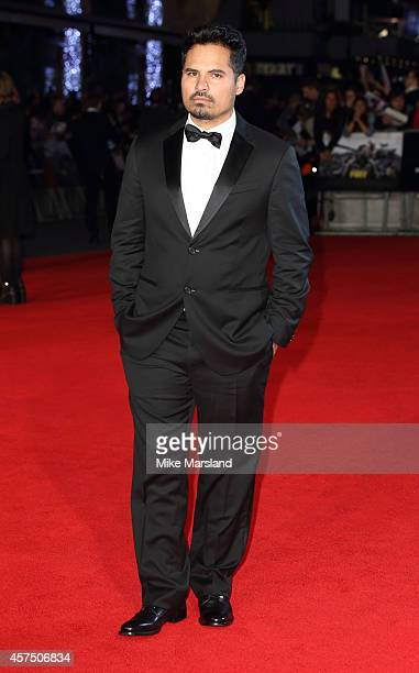 Michael Pena attends the closing night Gala screening of Fury during the 58th BFI London Film Festival at Odeon Leicester Square on October 19 2014...