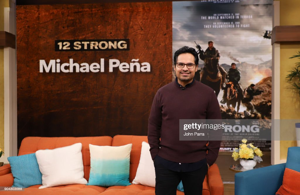 Michael Pena is seen at Univision's 'Despierta America' at Univision Studios to promote 12 STRONG on January 12, 2018 in Miami, Florida.