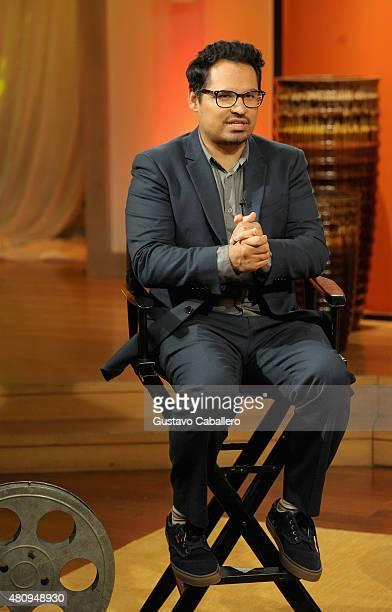 Michael Pena on the set of Uno Nuevo Dia to promote AntMan at Telemundo Studio on July 16 2015 in Miami Florida