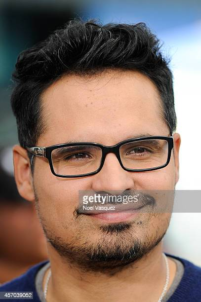 Michael Pena visits Extra at Universal Studios Hollywood on October 10 2014 in Universal City California