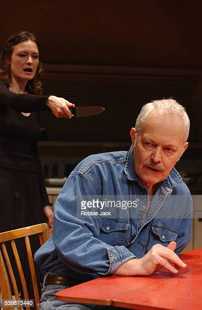 Michael Pennington and Catherine McCormack in the production When The Night Begins at the Hampstead Theatre London
