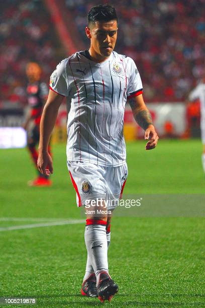 Michael Perez of Chivas leaves the field the 1st round match between Tijuana and Chivas as part of the Torneo Apertura 2018 Liga MX at Caliente...