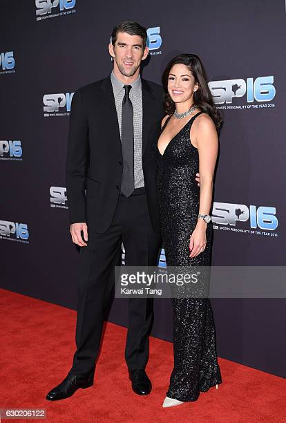 Michael Phelps and Nicole Johnson attend the BBC Sports Personality Of The Year at Resorts World on December 18 2016 in Birmingham United Kingdom