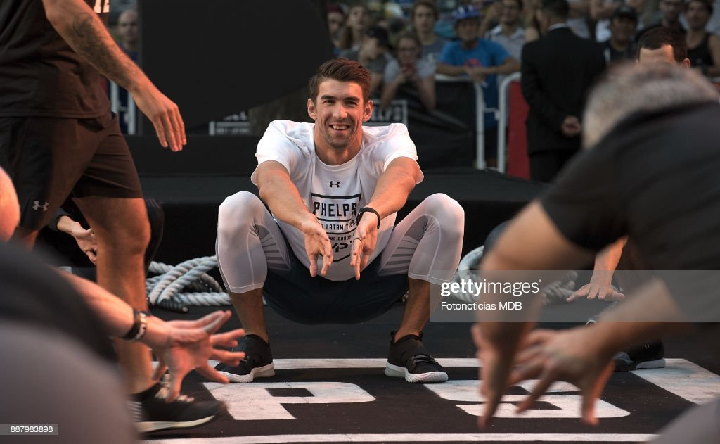 Michael Phelps Attends A Public Training As Under Armour Ambassador