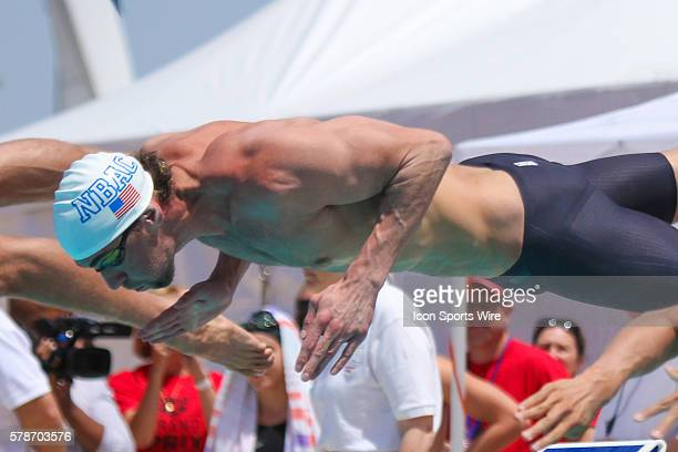 Michael Phelps dives into the pol during the USA Swimming Grand Prix Series at Skyline Aquatic Center in Mesa Ariz USA