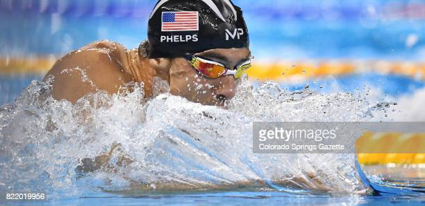 Michael Phelps earns his 22nd career Olympic gold medal with a victory in the 200meter Individual Medley during the Summer Games at the Olympic...