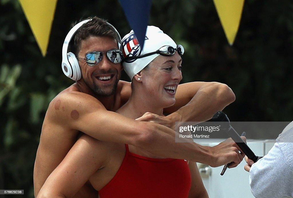 2016 U.S. Olympic Swimming Team Training Camp Media Day : News Photo