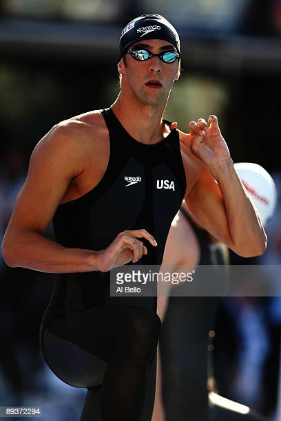 Michael Phelps of the United States prior to the Men's 200m Freestyle Final during the 13th FINA World Championships at the Stadio del Nuoto on July...