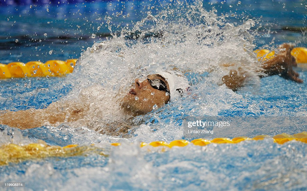 c7d5740e925 Michael Phelps of the United States swims the backtstroke leg in ...