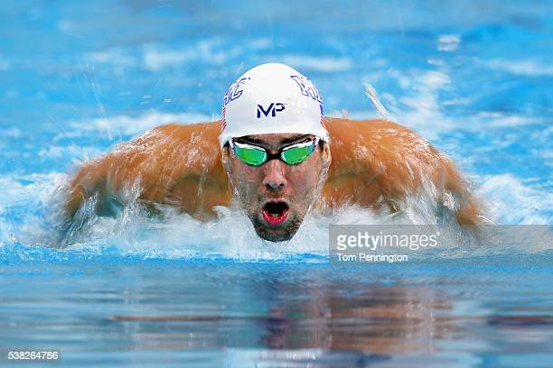 Michael Phelps swims in the Men's 200 meter individual medley heat race during the Longhorn Aquatics Elite Invite on June 5 2016 in Austin Texas