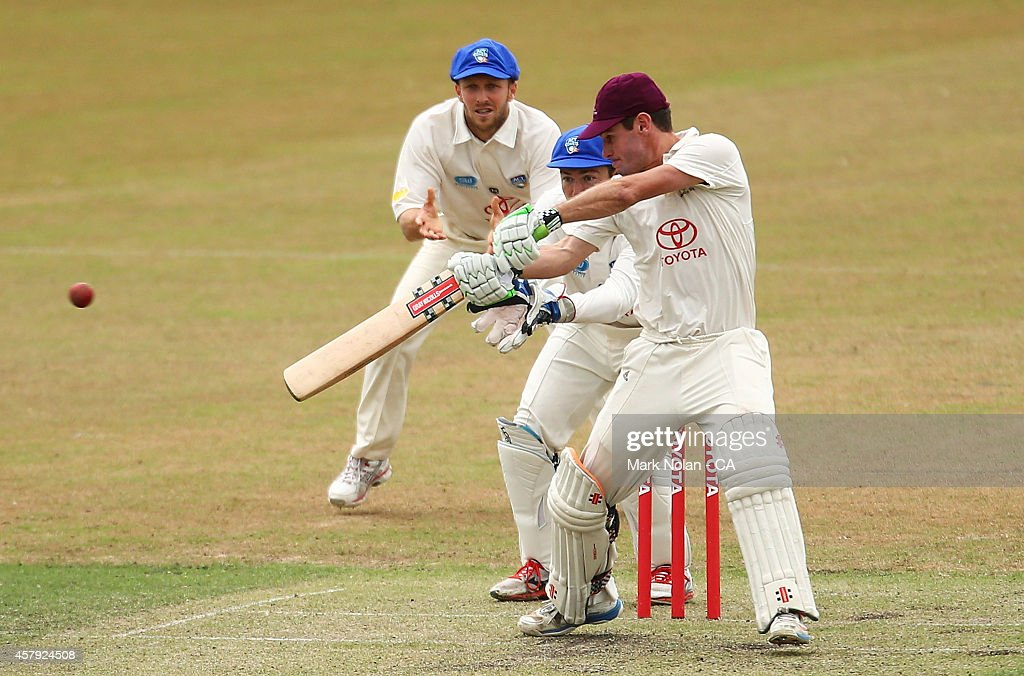 Michael Philipson of QLD bats during the Futures League