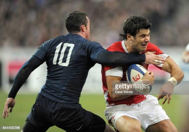 Michael PHILLIPS / Benoit BABY France / Pays de Galles Tournoi des 6 Nations 2009 Photo Dave Winter / Icon Sport