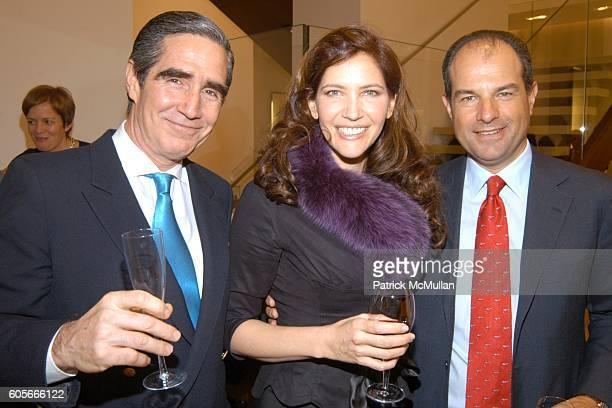 Michael Phillips Clarke, Melba Ruffo Di Calabria and Massimo Ferragamo attend FERRAGAMO Hosts NAUTOR'S SWAN at Salvatore Ferragamo on February 22,...