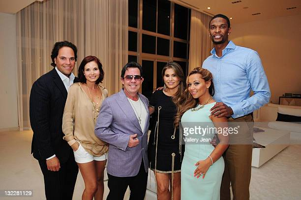 Michael Piazza Alicia Piazza JR Ridinger LorenRidinger Adrienne Williams and Chris Bosh attend the Haute Living and Dom Perignon kick off of the...