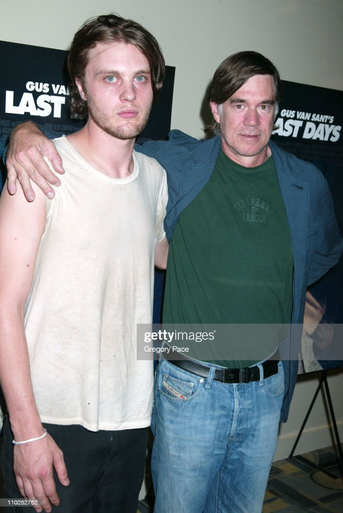 Michael Pitt and Gus Van Sant, director during 'Last Days' New York City Premiere - Inside Arrivals at The Sunshine Theatre in New York City, New York, United States.