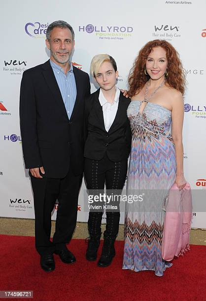 Michael Plonsker Stella Ritter and actress Amy Yasbeck attend 15th Annual DesignCare on July 27 2013 in Malibu California