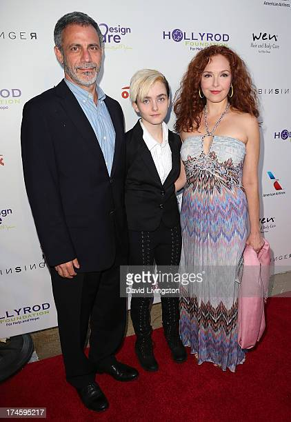 Michael Plonsker, Stella Ritter and actress Amy Yasbeck attend the 15th Annual DesignCare on July 27, 2013 in Malibu, California.